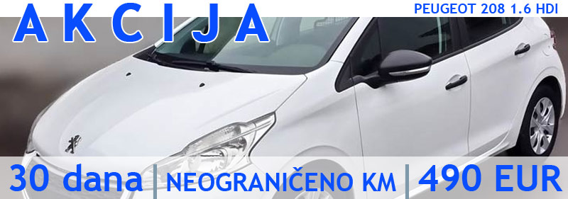 Rent a car Novi Sad AKCIJA